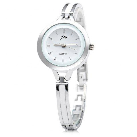 Affordable JW 3388 Nail Scale Circular Dial Female Quartz Watch Alloy Band SILVER