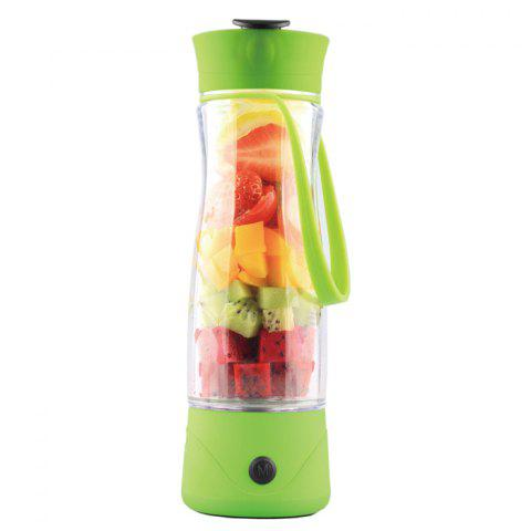 Rechargeable Juice Extractor Cup Multi-functional Lemon Fruit Squeezer Electric  Bottle - 350ml - Apple Green