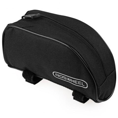 Roswheel Outdoor Mountain Bicycle Cycling Frame Front Top PVC Tube Bag Bike Pouch - Black