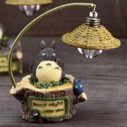 Creative Micro Landscape Toy with Night Light Polyresin Home Decoration Accessory -