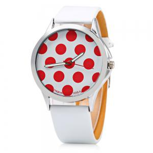 TAQIYA 1035-4 Casual Style Female Quartz Watch with Cute Dot Pattern Dial - BLACK