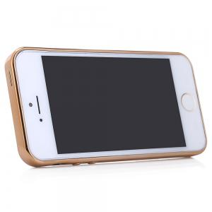 Diamond Style Protective Back Cover Case for iPhone 5 / 5S / SE Ultra-thin TPU Electroplated Edge Design Mobile Protector -