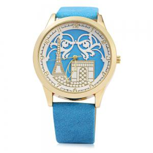 S555 Soft Leather Band Female Quartz Watch -