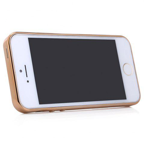 New Diamond Style Protective Back Cover Case for iPhone 5 / 5S / SE Ultra-thin TPU Electroplated Edge Design Mobile Protector - GOLDEN  Mobile