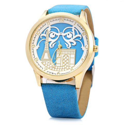 Online S555 Soft Leather Band Female Quartz Watch