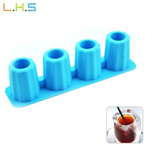 Unique LHS Silicone DIY Ice Mold Cool Drinks Chocolate Soap Making Tool with 4 Grids