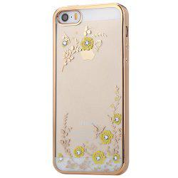 Diamond Style Protective Back Cover Case for iPhone 5 / 5S / SE Ultra-thin TPU Electroplated Edge Design Mobile Protector