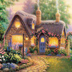 Beautiful Garden Hut Landscape Diamond Painting Crystal Rhinestone Cross-stitch Fantastic Drawing Home Art Decoration - GREEN