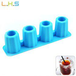 LHS Silicone DIY Ice Mold Cool Drinks Chocolate Soap Making Tool with 4 Grids -