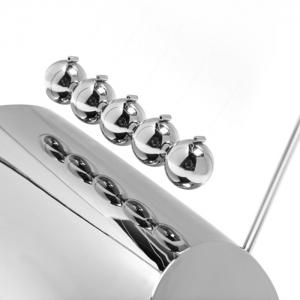 1.5cm Metal Newton Cradle Balance Ball N Shape Physical Pendulum Novelty Desktop Toy - SILVER