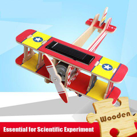 Solar Biplane Dragon P220 Puzzle Scientific Green Energy DIY Toy Blocks - Red
