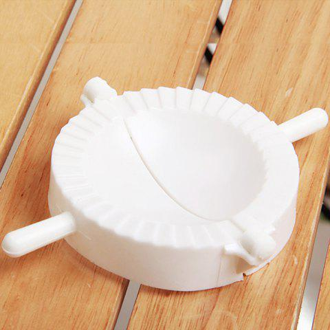 Unique Large Size White Plastic Dumplings Maker Kitchen Dumplings Mould - WHITE  Mobile