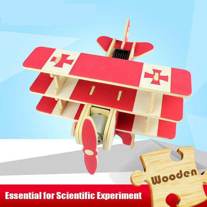 Affordable Solar Military Aircraft P250 Puzzle Scientific Green Energy DIY Toy Blocks