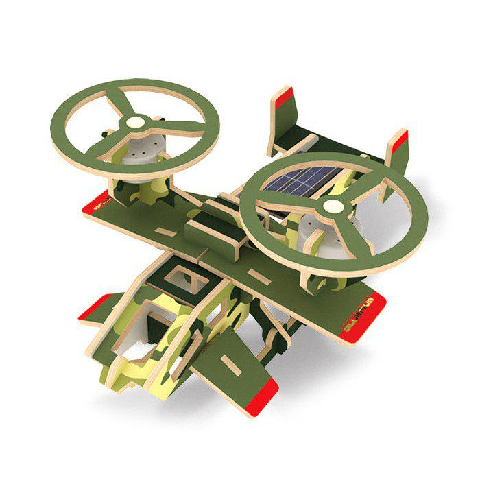 Chic Solar Military Science Fiction Plane Scorpion P350 Puzzle Scientific Green Energy DIY Toy Blocks