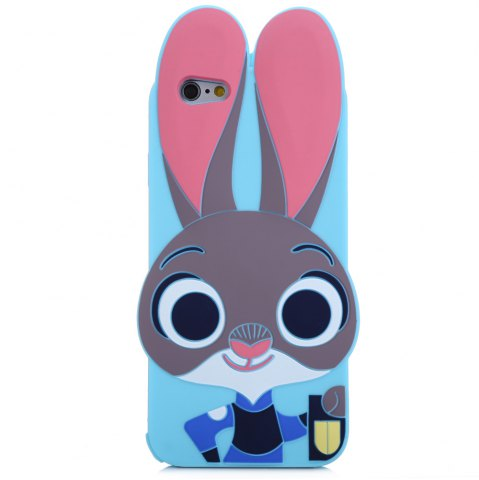 Hot Cartoon Rabbit Pattern Protective Back Cover Case for iPhone 6 / 6S Silicone Soft Mobile Shell with Button Protection