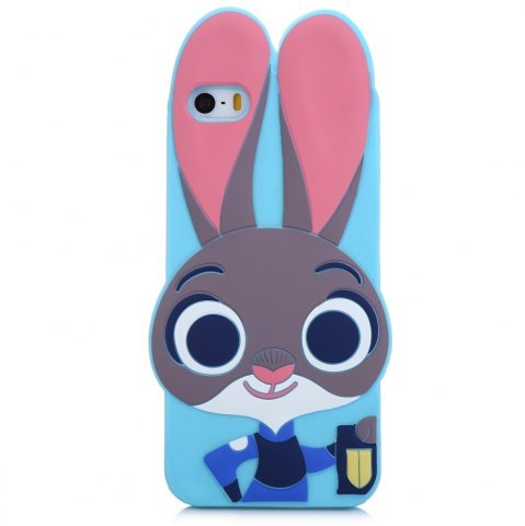 Outfits Cartoon Rabbit Pattern Protective Back Cover Case for iPhone 5 / 5S / SE Silicone Soft Mobile Shell with Button Protection