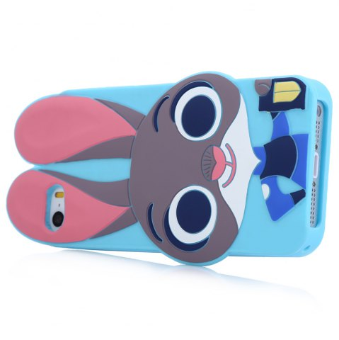 Buy Cartoon Rabbit Pattern Protective Back Cover Case for iPhone 5 / 5S / SE Silicone Soft Mobile Shell with Button Protection - BLUE  Mobile