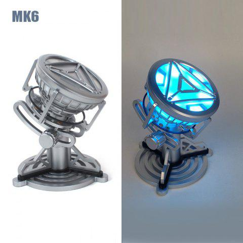 Online 1 : 1 Scale Cosplay Prop Arc-reactor Desk Lamp Decorative Action Figure Sleeping Light