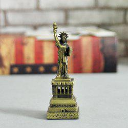 DECAKER Statue of Liberty Landmark Building Model Aluminum Alloy Architecture Decoration Toy -