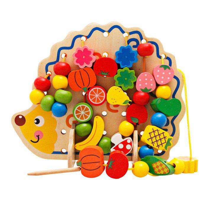Chic Hedgehog Fruit Stringing Bead Stackable Building Block Educational Toy for Children