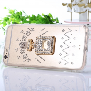 Diamond Style Phone Back Case Protector for iPhone 6 / 6S Flicker Pattern Protector -
