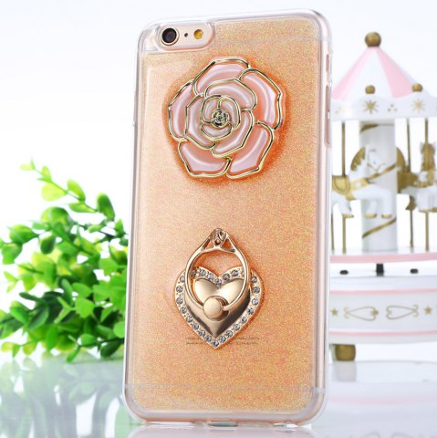 Best Rose Pattern Protective Back Cover Case for iPhone 6 Plus / 6S Plus TPU Soft Mobile Protector with Ring Bracket