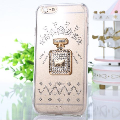 Outfits Diamond Style Phone Back Case Protector for iPhone 6 / 6S Flicker Pattern Protector