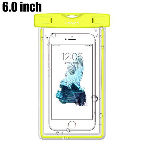 Shops USAMS YD002 6.0 inch TPU IPX8 Waterproof Protective Case for Smart Phones Glow in the Dark Design - GREEN  Mobile