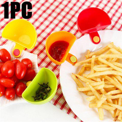 Outfits Multi-functional Plastic Clip Dishes Snacks Sauce Flavoring Plates COLORMIX