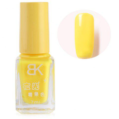 Buy 7ml bNoctilucent Fluorescent Lacquer Neon Glow In Dark Nail Polish - 02 YELLOW Mobile