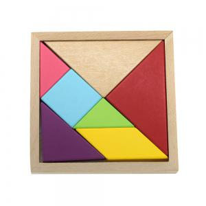 Maikou MK518 Educational Wooden Tangram Puzzle Toy for Children / Kid -