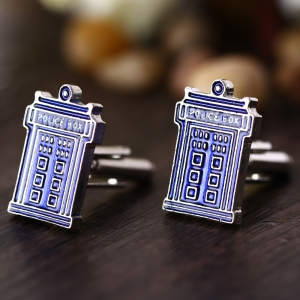 Doctor House Shape Pair of Stylish Cufflinks Clothing Decors - Blue