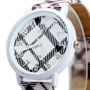 OLJ B1844 Lovely Style Female Quartz Watch with Checkered Pattern Dial -