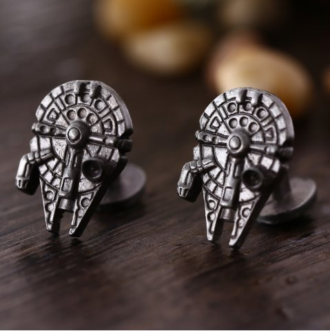 Latest Spaceship Shape Pair of Stylish Cufflinks Clothing Decors - BRONZE  Mobile