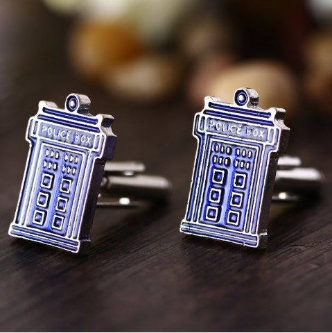 Outfits Doctor House Shape Pair of Stylish Cufflinks Clothing Decors - BLUE  Mobile