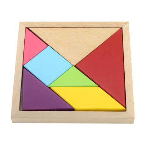 Fashion Maikou MK518 Educational Wooden Tangram Puzzle Toy for Children / Kid