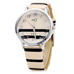 OLJ B1838 Snakeskin Grain Band Female Quartz Watch -