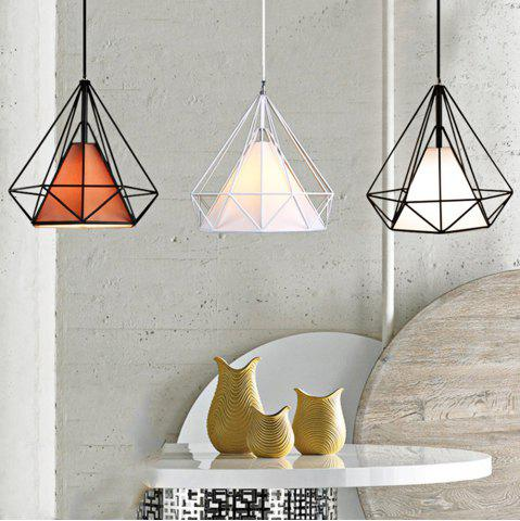 Trendy Diamond Style Wire Cage Pendant Light Droplight Dining Table Decoration - COFFEE  Mobile