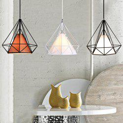 Diamond Style Wire Cage Pendant Light Droplight Dining Table Decoration - COFFEE