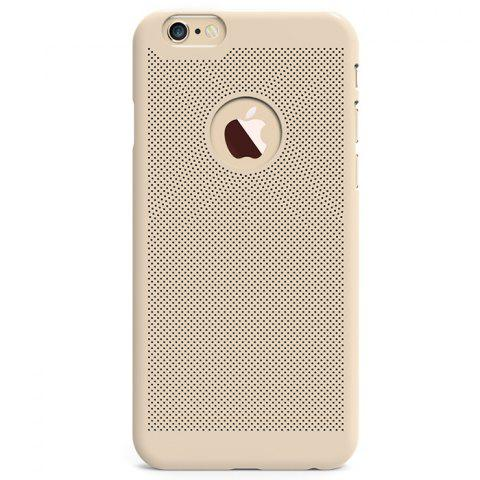 Best Breathable Protective Back Cover Case for iPhone 6 / 6S Soft Mobile Protector with Nano Hole - GOLDEN  Mobile