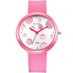 SKONE 3926 Ladybird Style Dot Bezel Female Quartz Watch