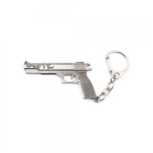 Key Chain Rifle Pistol Hanging Pendant Metal Keyring Online Military Game Toy for Bag Decoration - Silver Gray - Style 5