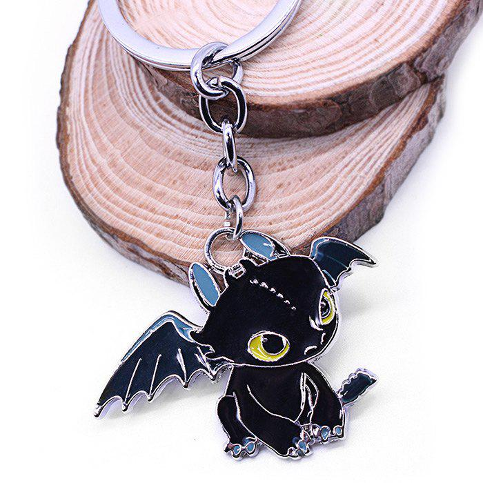Key Chain Hanging Pendant Dragon Shape Keyring Movie Product for Bag DecorationHOME<br><br>Color: BLACK; Age: 3 Years+;