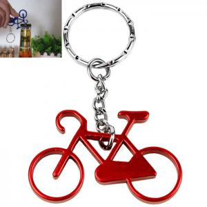 Bicycle Bike Shape Metal Key Ring Keychain Bottle Opener - Red - Ransformers Optimus Prime Style