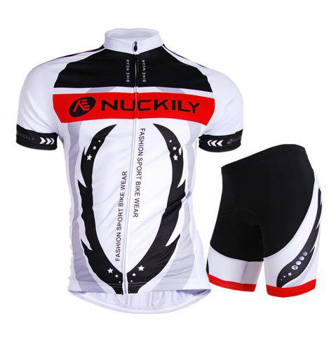 Hot NUCKILY AJ208 BK267 Men Polyester Windproof Bicycle Cycling Suit -   Mobile