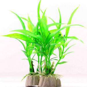Aquarium Plastic Simulation Lucky Bamboo Style Fish Tank Decoration