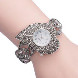ASJ b039 Maple Pattern Ladies Japan Quartz Watch Decoration Wristwatch