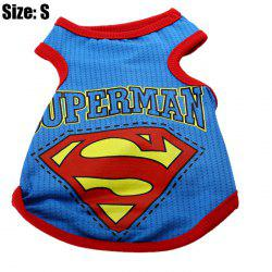 Cartoon Super Hero Pattern Pet Vest Cute Dog Clothing