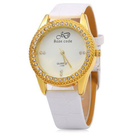 Shops Base code J - 038 Casual Style Leather Band Female Quartz Watch