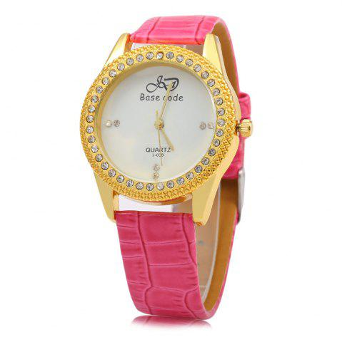 Online Base code J - 038 Casual Style Leather Band Female Quartz Watch